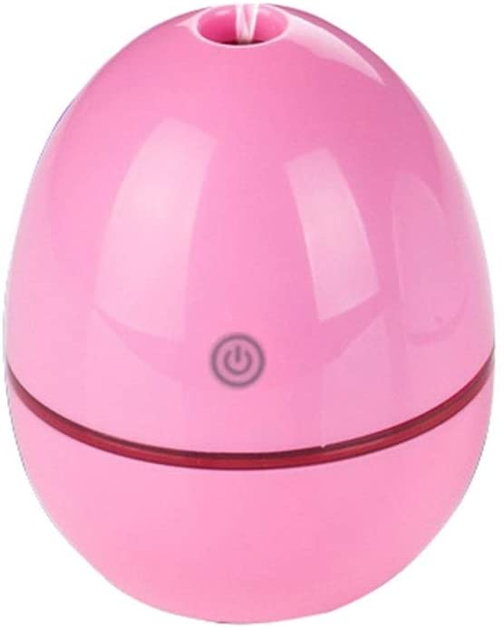 Egg Shape Ultrasonic Essential Car Air Purifier USB Aroma Aromatherapy Mist Maker Air Freshener 30ML (Color : Pink)