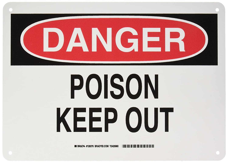 Brady 126376 Chemical and Hazard Sign, Legend