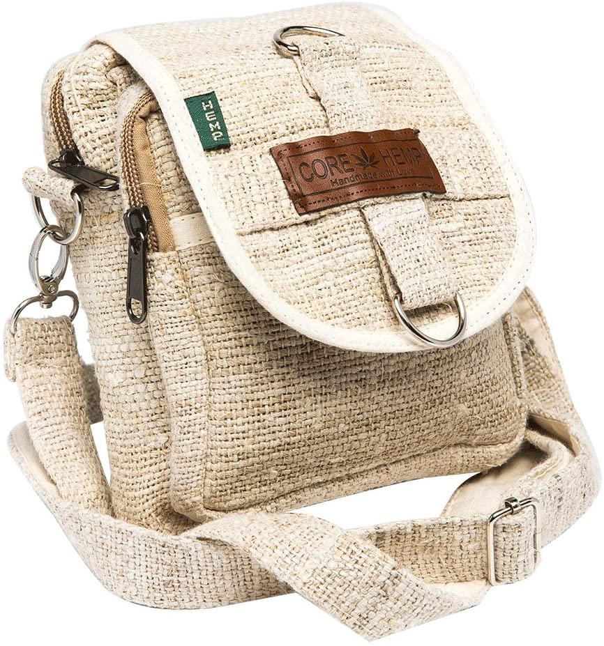 Core Hemp Messenger Bag Crossbody Shoulder Bag Waist Bag
