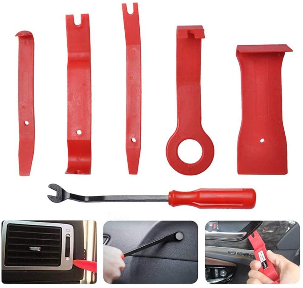 OTUAYAUTO 6 PCS Auto Trim Removal Tool Set - Car Panel Removal Tools Kit for Car Audio Dash Door Panel