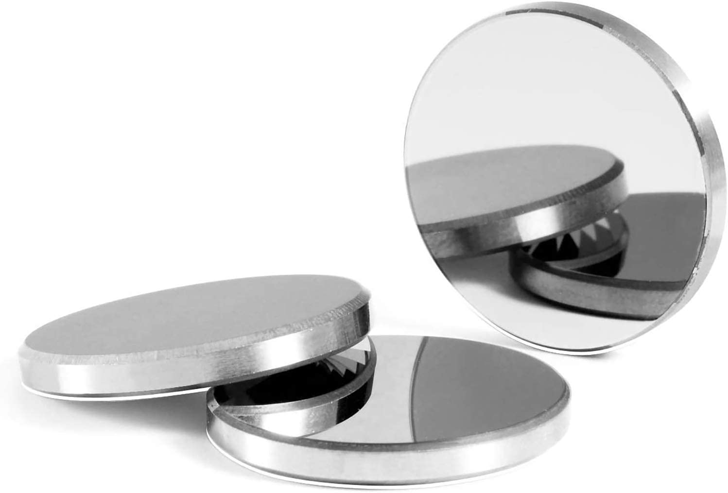 Mssoomm 50.8mm Molybdenum (Mo) Laser Reflection Mirrors for CO2 Laser Cutter Engraver Machine, 3 Pcs Dia. 50.8mm /2 THK 5mm
