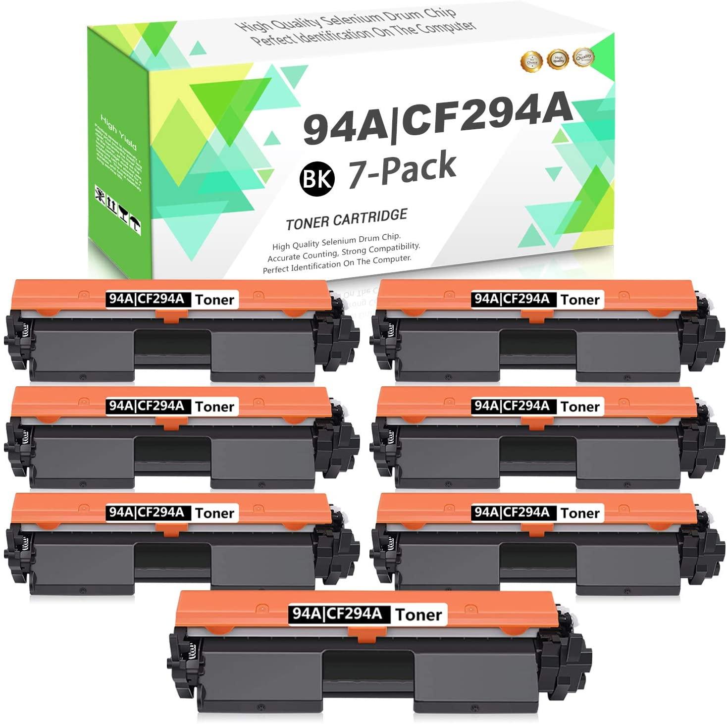 Compatible 94A | CF294A Toner Cartridge (Black,7-Pack) Replacement for HP Laserjet Pro MFP M148fdw MFP M148dw M118dw MFP M148-M149 M118-M119 Series Printers,Sold by TmallToner.