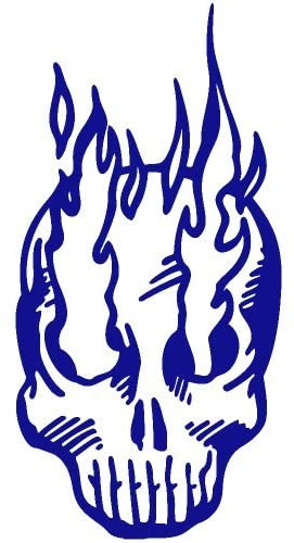 Burning Eye Skull Decal Sticker (blue), - PEEL and STICK Graphic Sticker - Decorative Bumper Window Laptop Notebook Sticker