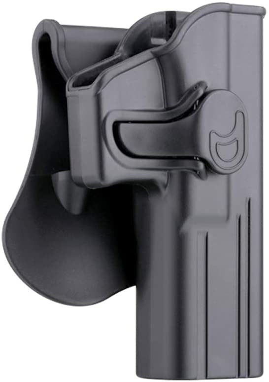 Glock 17 Holster, OWB Paddle Holster Fit Glock 17 22 31 Gen 1 2 3 4 5, Outside Waistband Belt Gun Holsters, 360° Adjustable Polymer Tactical Pistol Holster, Open Carry Holster - Right Handed