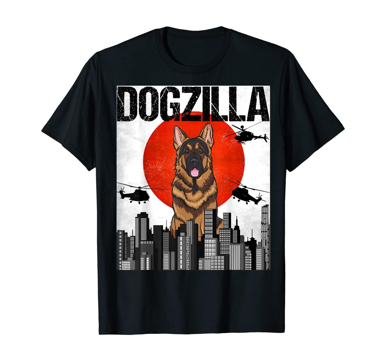 Funny Vintage Japanese Dogzilla German Shepherd T-Shirt