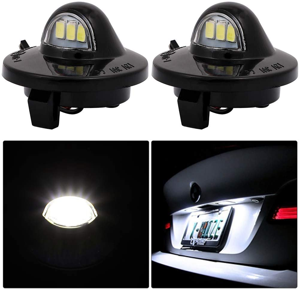 cciyu License Plate Light Tag Lamp Assembly 6000K White Replacement for Ford Excursion Expedition Explorer for for Ford 150 F-250 F-350 F-450 F-550