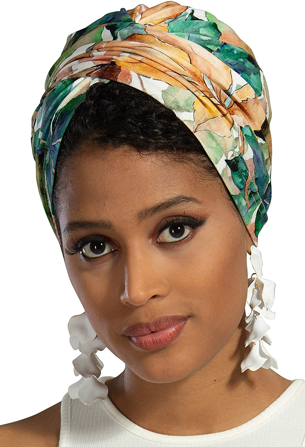 Instant Turban Cotton Scarf Head Wrap Scarves Lightweight Hats Womens Cap