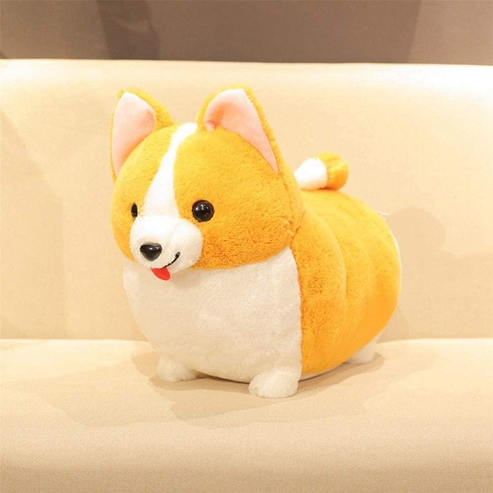 Yuncheng Plush Toys Animals Baby Girl Gift Toy Stuffed Animal Plush Stuff Toys, 38/45/60cm Lovely Corgi Dog Plush Toy Stuffed Soft Animal Cartoon Pillow Cute for Kids