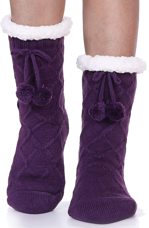 Womens Slipper Socks Soft Fuzzy Cabin Warm Fashion Cute Cozy Fluffy Winter Christmas Socks