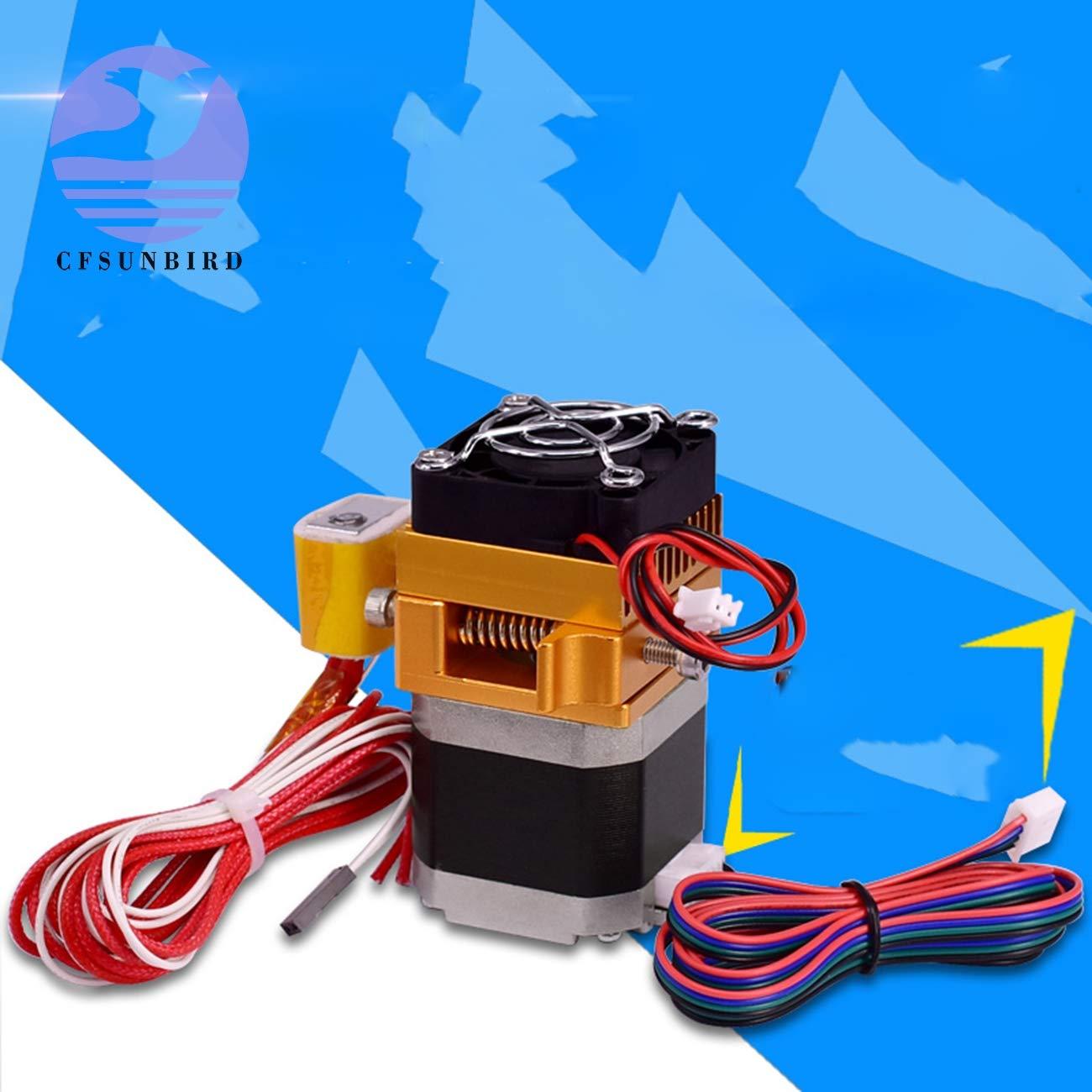 MK8 Extruder Head J-Head Hotend 0.4mm Nozzle Kit 1.75mm Filament Extrusion 3D Printers Parts with Box Motor Throat Aluminum Part