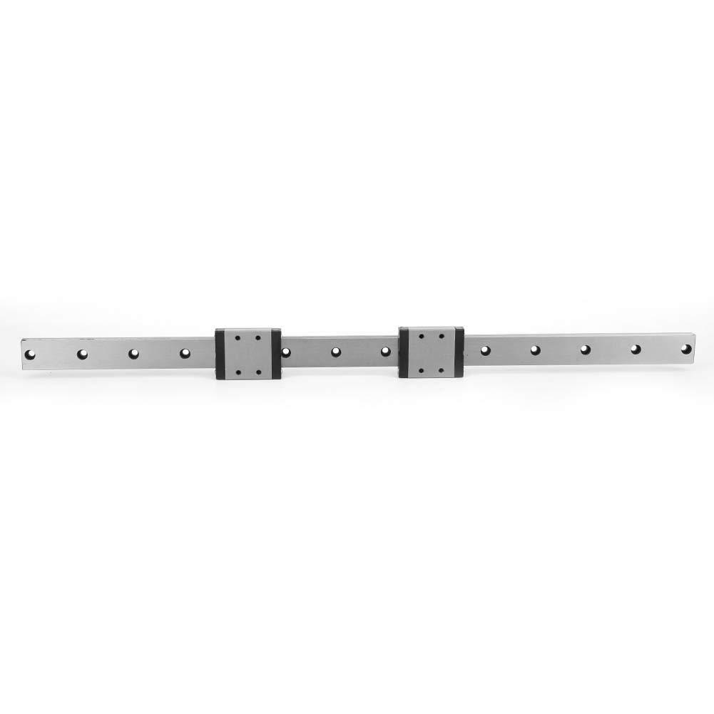 Linear Rail Guide, LMLF18B-400-2R Miniature Linear Guide Slide Bearing Steel 400mm Long 18mm Wide Linear Guide