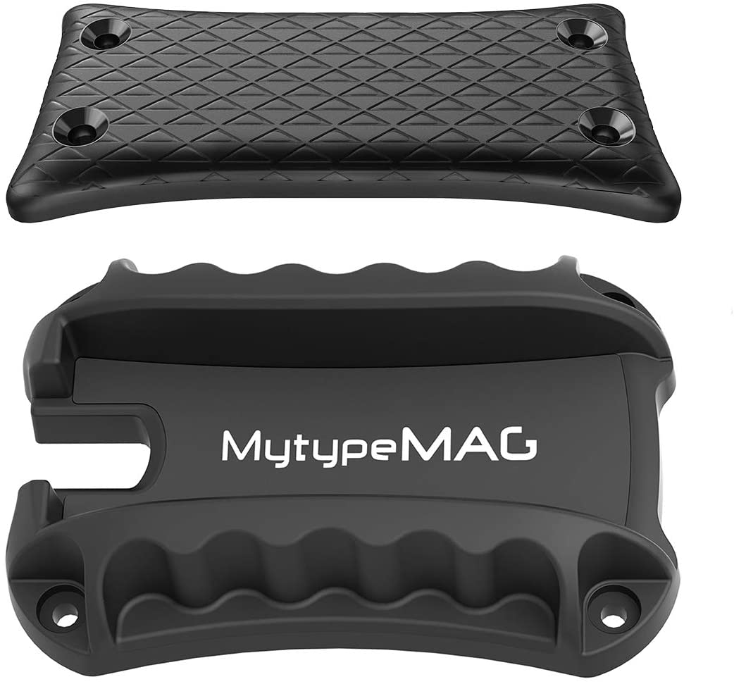 MytypeMAG Tactical Magnetic Gun Holder&Holster, Fast Load&Draw Rack for Handgun and Strong Magnetic Mount Rated 50Lbs for Most Gun, Using on Truck, Car, Bed, Safe and Desk