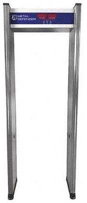 Metal Detector, Walk-Through, Gray, 10 Hz