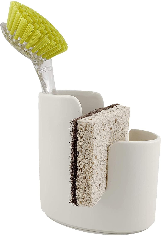 Scarlettwares Ceramic Sponge Holder Kitchen Caddy Sponge and Brush Holder