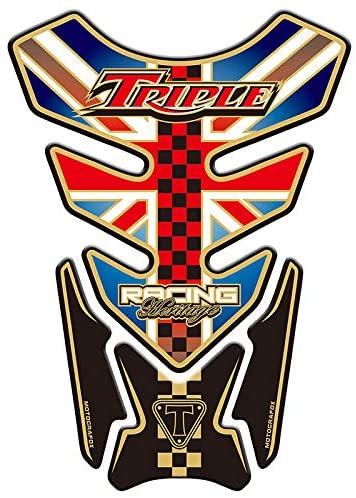 Motorcycle 3D Sticker Decal Emblem Protection Tank Pad Cas Cap For Triumph Triple Street Speed Daytona