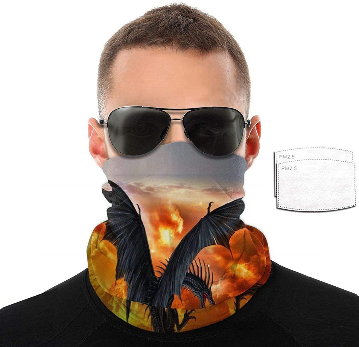 Men's Washable Bandanas Face Mask Scarf Neck Gaiter