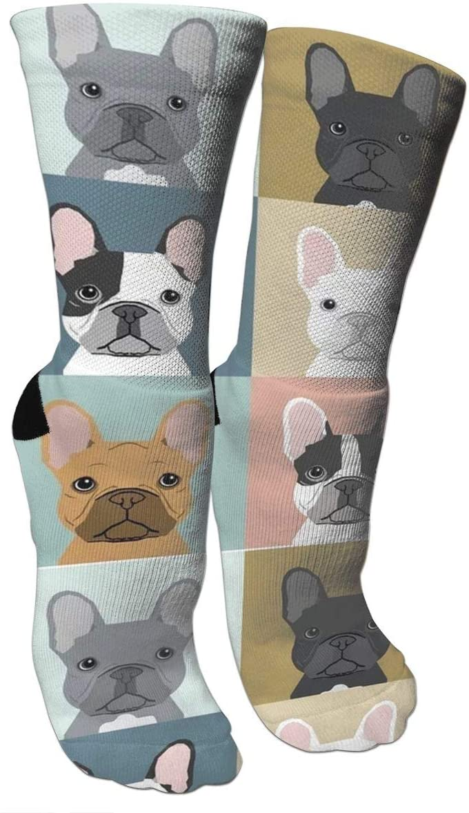 antspuent French Bulldogs Dog Compression Socks Unisex Fun Novelty Crazy Dress Crew Socks