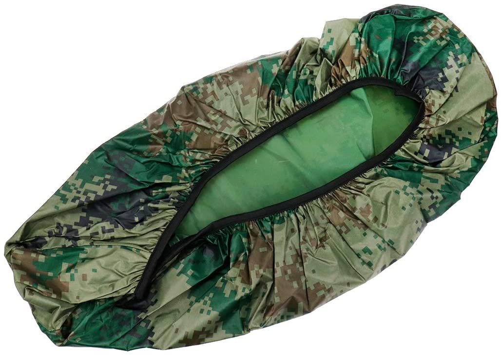 Modengzhe Waterproof Motorcycle Seat Cover, Rainproof & Dustproof, 25 x 13 inches Fit for Small-Size Motorcycle Moped Scooter, Camouflage Green Size L