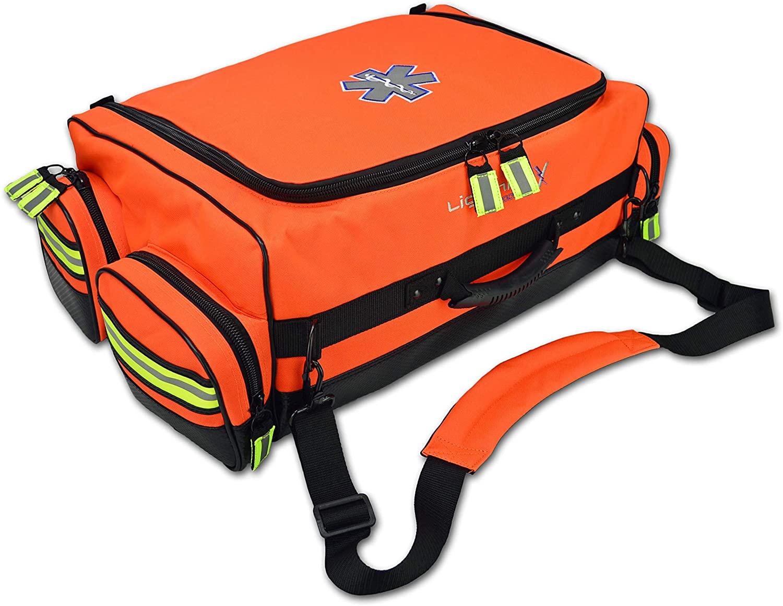 Lightning X Modular X-Tuff Oxygen Trauma Bag w/Zip-Out Cylinder Pocket & Removable Pouches - Florescent Orange