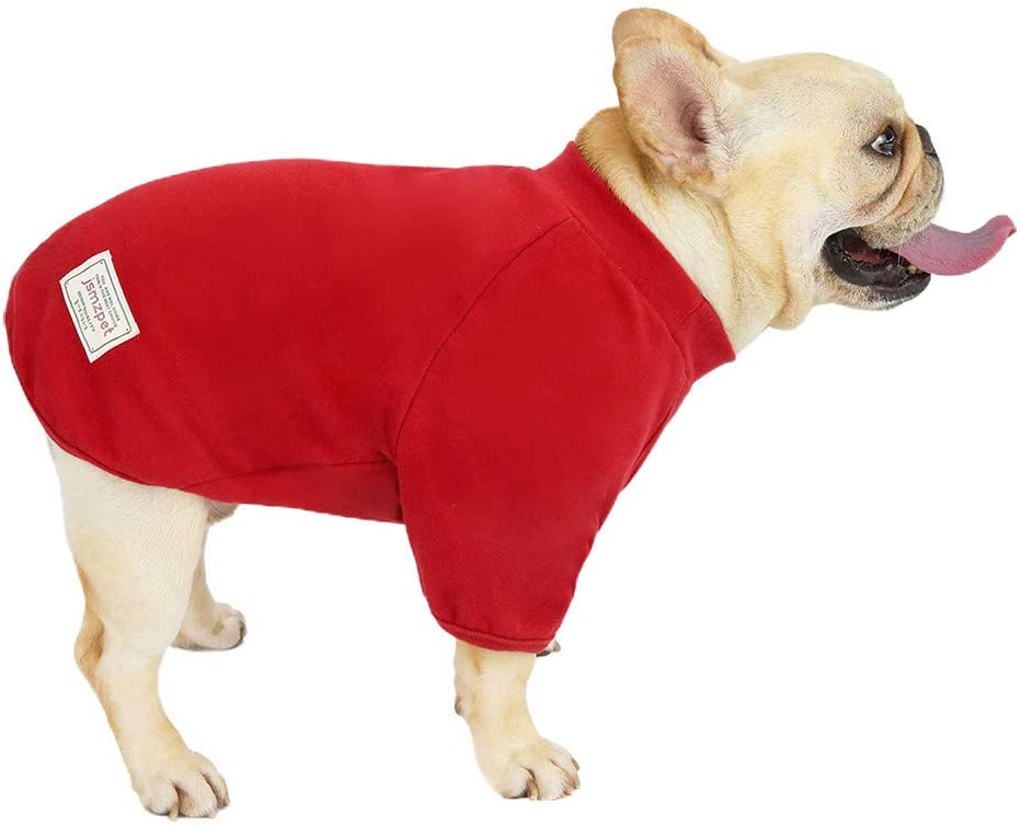 LINGERY Dog Shirt,Pet Solid Breathable Costume for Small Medium Large Dogs Cats Puppy Soft Casual Halloween Thanksgiving Christmas Clothing