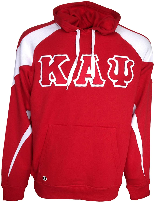 Mega Greek Mens Kappa Alpha Psi Prospective Hooded Sweatshirt XX-Large Red