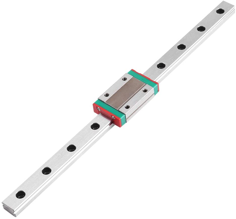 Linear Slide Rail,Linear Sliding Guideway Rail Shaft Optical Axis with Rod Rail Support for Automation Equipment (1#)