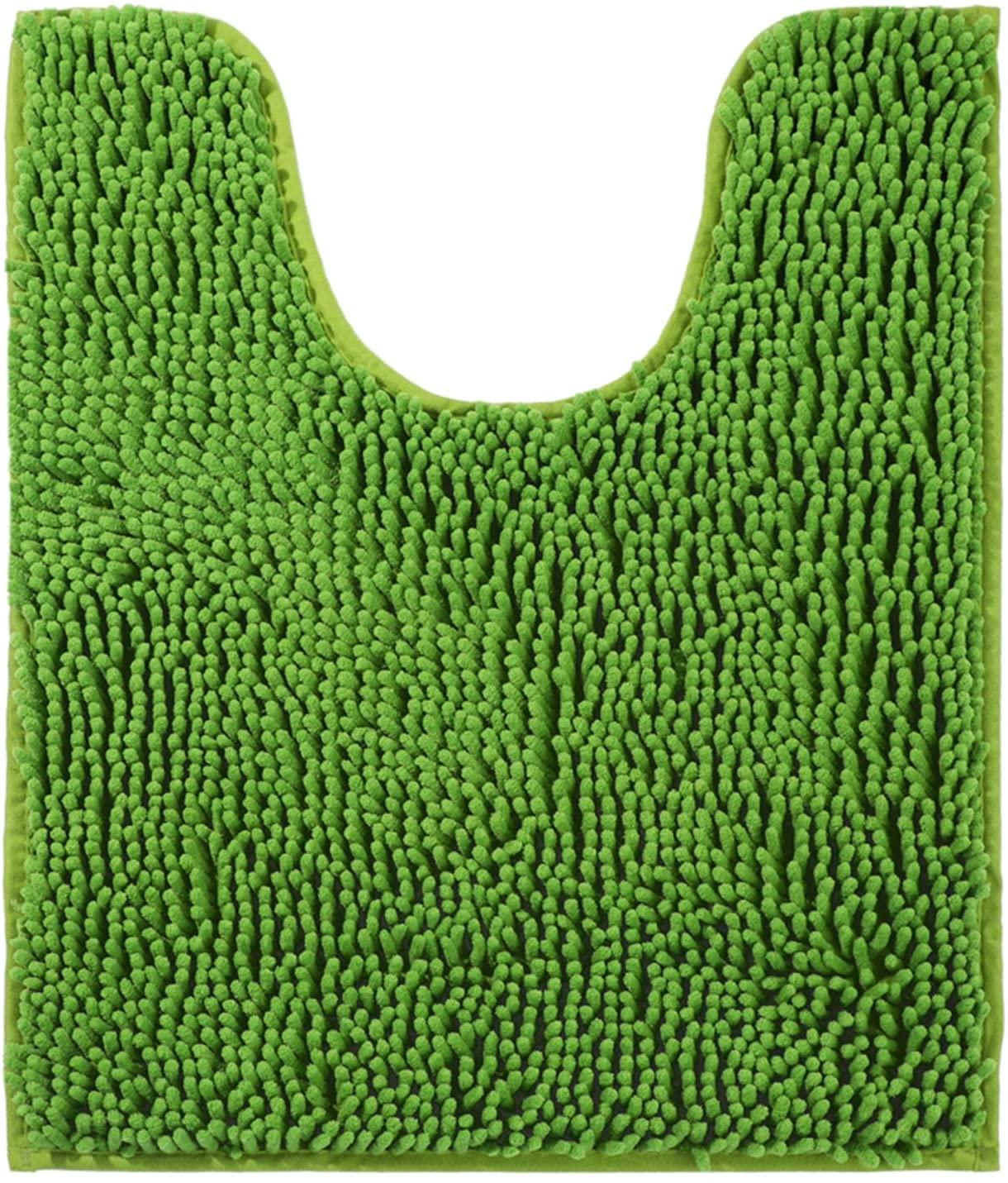 Green Bathroom Rugs Non Slip Curved Bath Mat 20