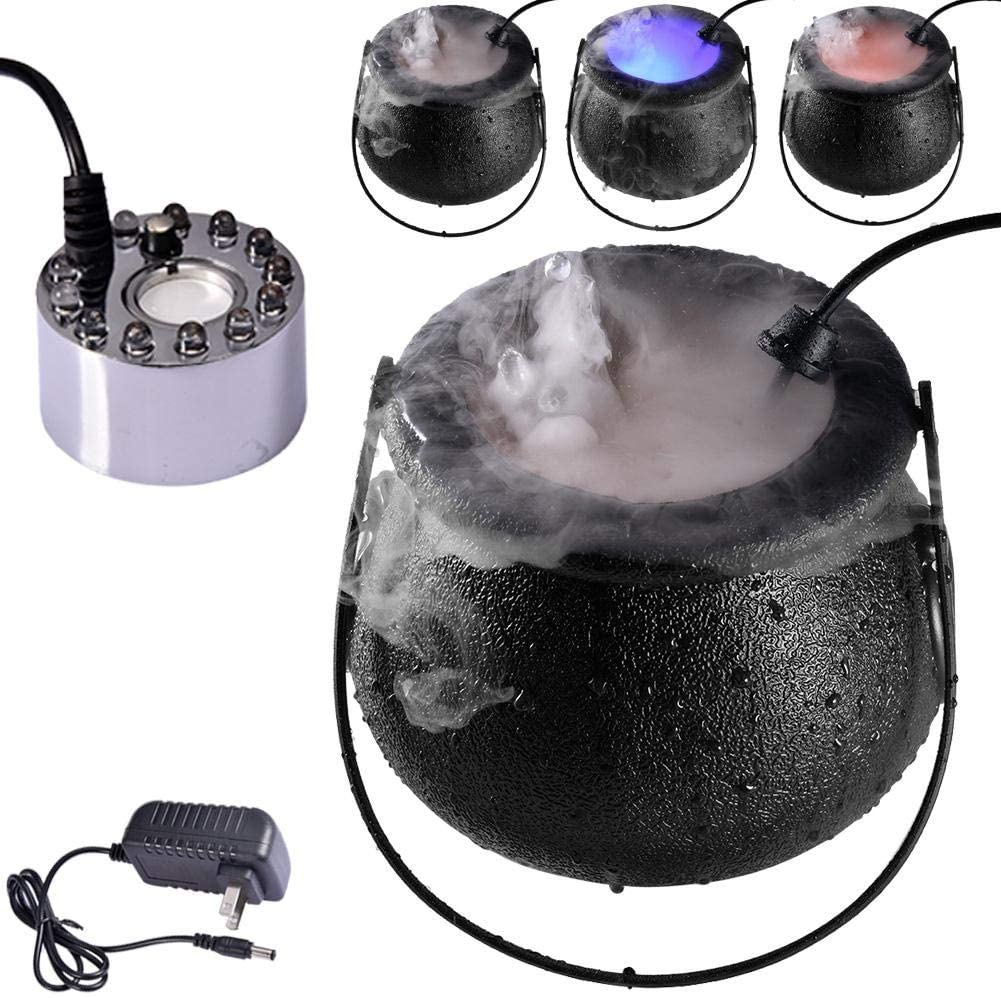Voyoo Halloween Fog Machine LED Mist Maker Sprayer with LED- Light