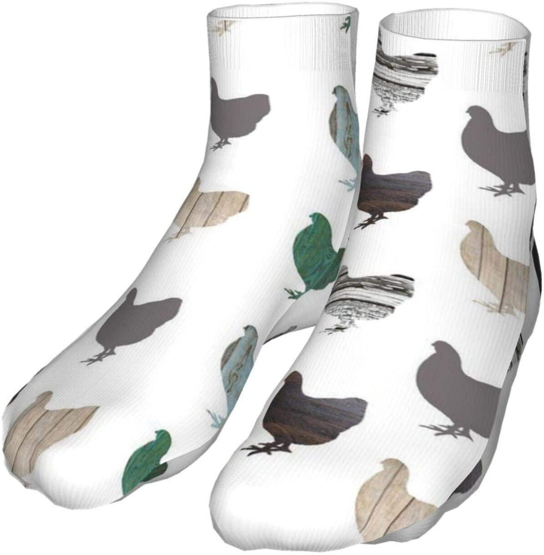 antcreptson Wooden Chickens Athletic Tube Stockings Women's Men's Classics Knee High Socks Sport Long Sock One Size