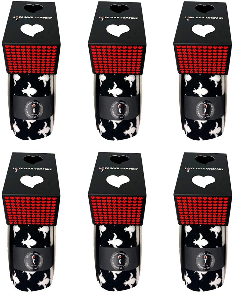 Fleur De Lis Men's black mid calf dress socks made with organic cotton, seamless toe. Groomsmen socks individually gift boxed