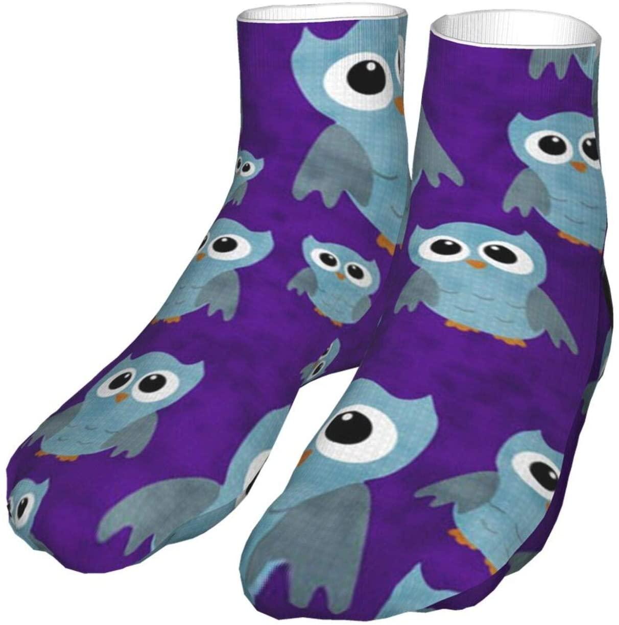 antcreptson Sky Owl Athletic Tube Stockings Women's Men's Classics Knee High Socks Sport Long Sock One Size