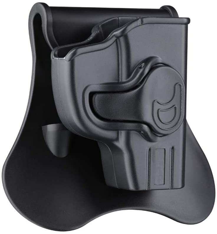 Ruger LCP Holster, OWB Paddle Holster Fits Ruger LCP 380, Kel-Tec P3AT 380 Sub-Compact Pistol(No for Laser Models), 360° Adjustable Outside Waistband Holsters, Tactical Gun Holster - Right Handed