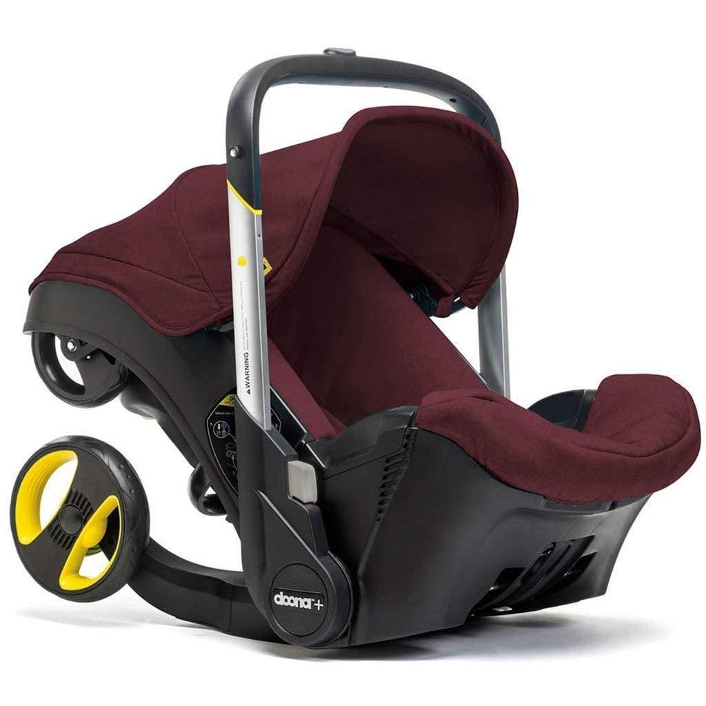 Doona Infant Car Seat & Latch Base – Car Seat to Stroller – Cherry/Burgundy – US Version
