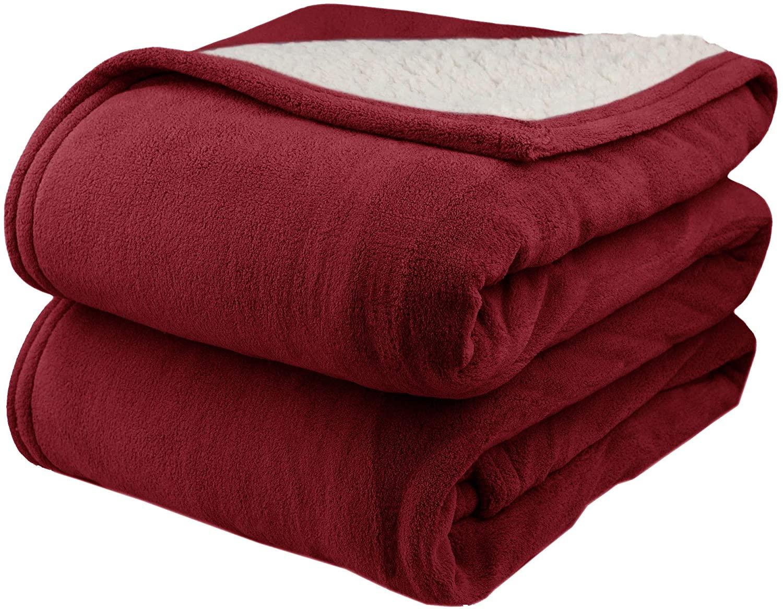 Pure Warmth MicroPlush Sherpa Electric Heated Blanket King Brick