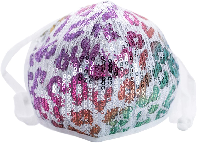 Berek Leopard Sequin Mask | Fashion Wear Colorful Sequin Facial Covering (Multi)