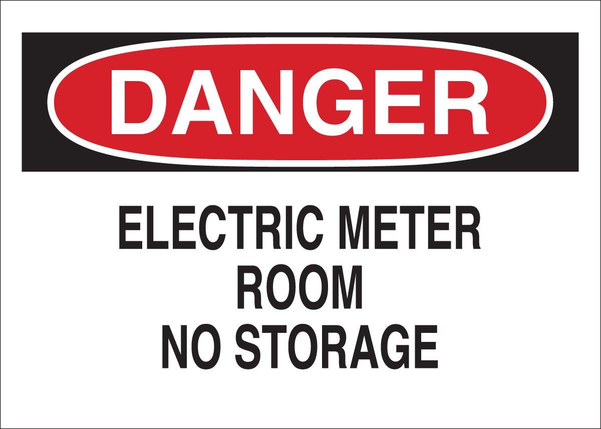 Brady 25526 Plastic Electrical Hazard Sign, 7
