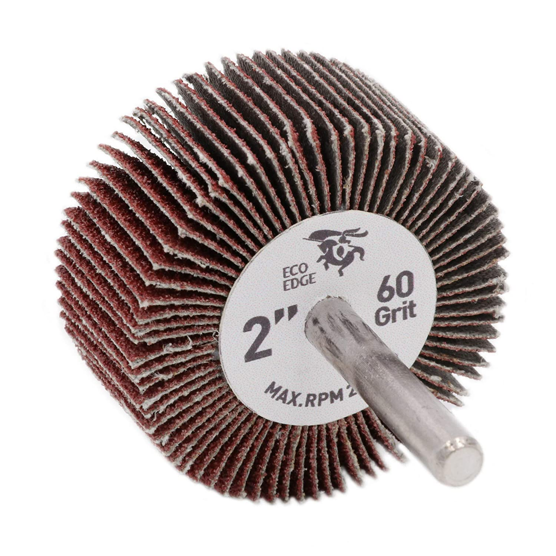 Eco Edge 10-Pack 2-Inch Aluminum Oxide Shank Mounted Abrasive Flap Wheels (2