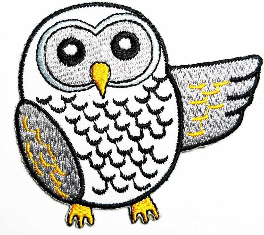 HHO Owl cartoon kids Patch Embroidered DIY Patches, Cute Applique Sew Iron on Kids Craft Patch for Bags Jackets Jeans Clothes