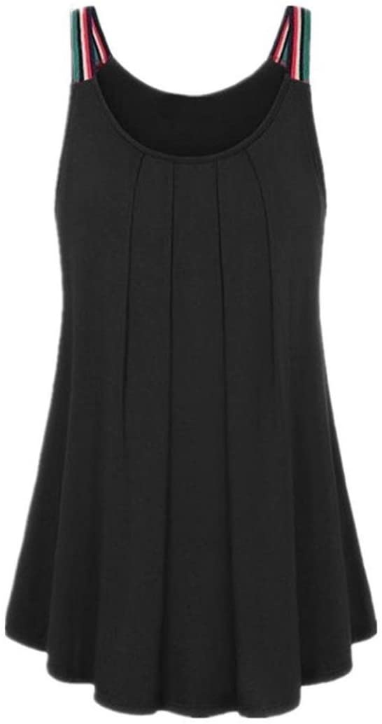 CUCUHAM Womens Summer Lady Fashion Soild Blouse Sexy Vest Fashion Sleeveless T-Shirt