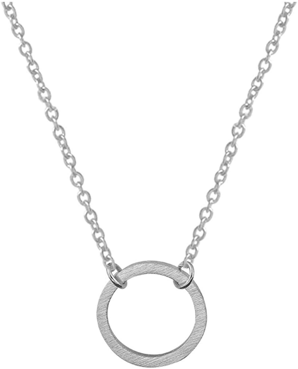 Frodete Fashion Circle Pendant Necklace for Women Minimalist Gold Color Chain Choker Necklaces Jewelry Party Gift