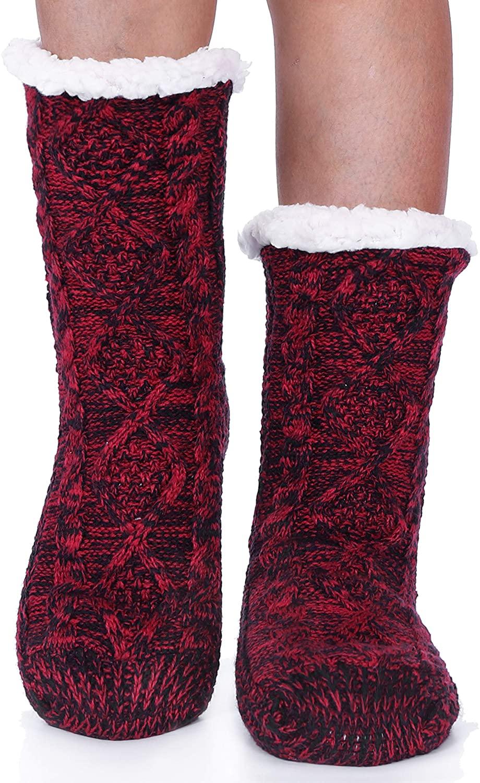 Womens Slipper Fuzzy Socks Soft Cabin Warm Cozy Cute Fluffy Winter Christmas Socks