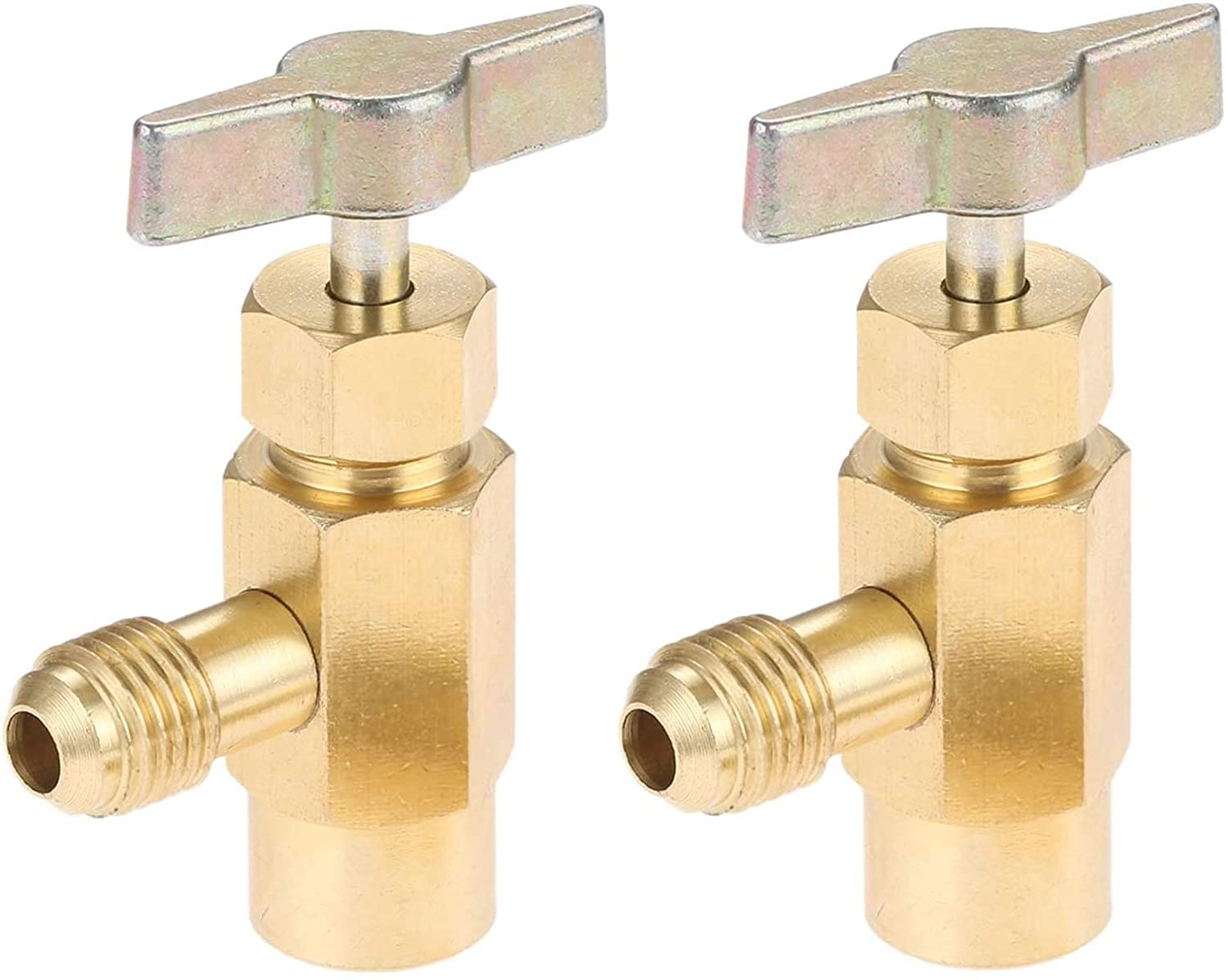 2PC Self-Sealing R134a A/C Can Tap 1/2 Acme Tapper Dispensing Valve Refrigerant HVAC Charging Hose Connect TAP Valve Car AC Recharging Cans R134A