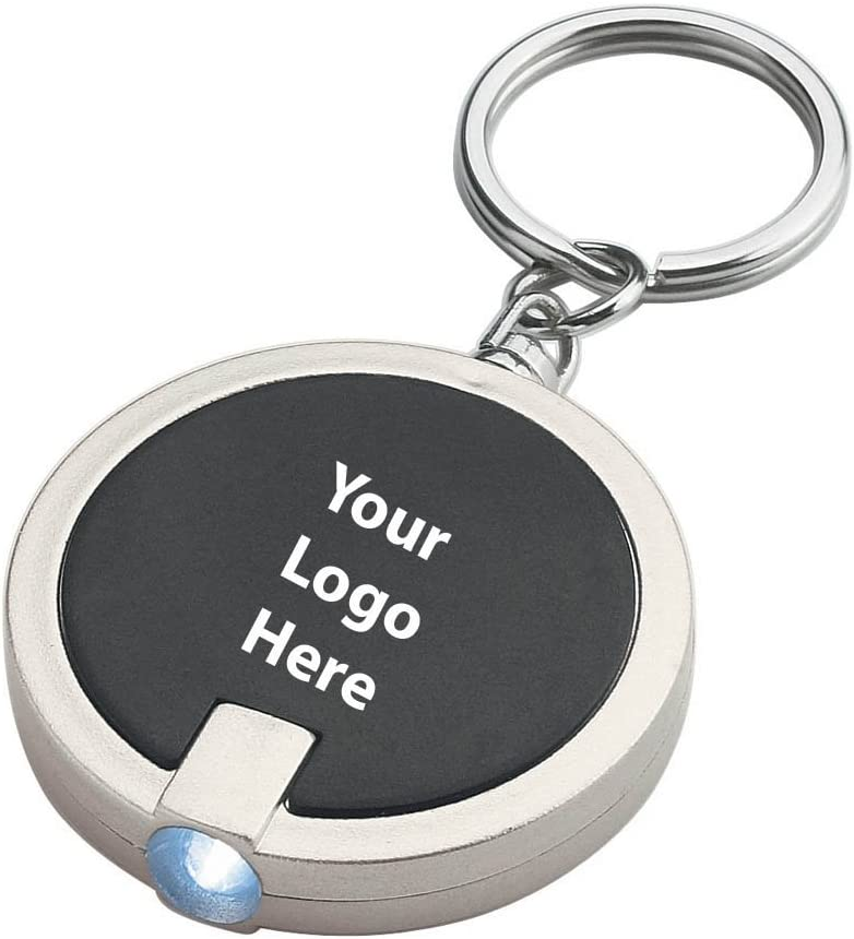 Round LED Key Chain - 250 Quantity - $1.15 Each - PROMOTIONAL PRODUCT/BULK/BRANDED with YOUR LOGO/CUSTOMIZED