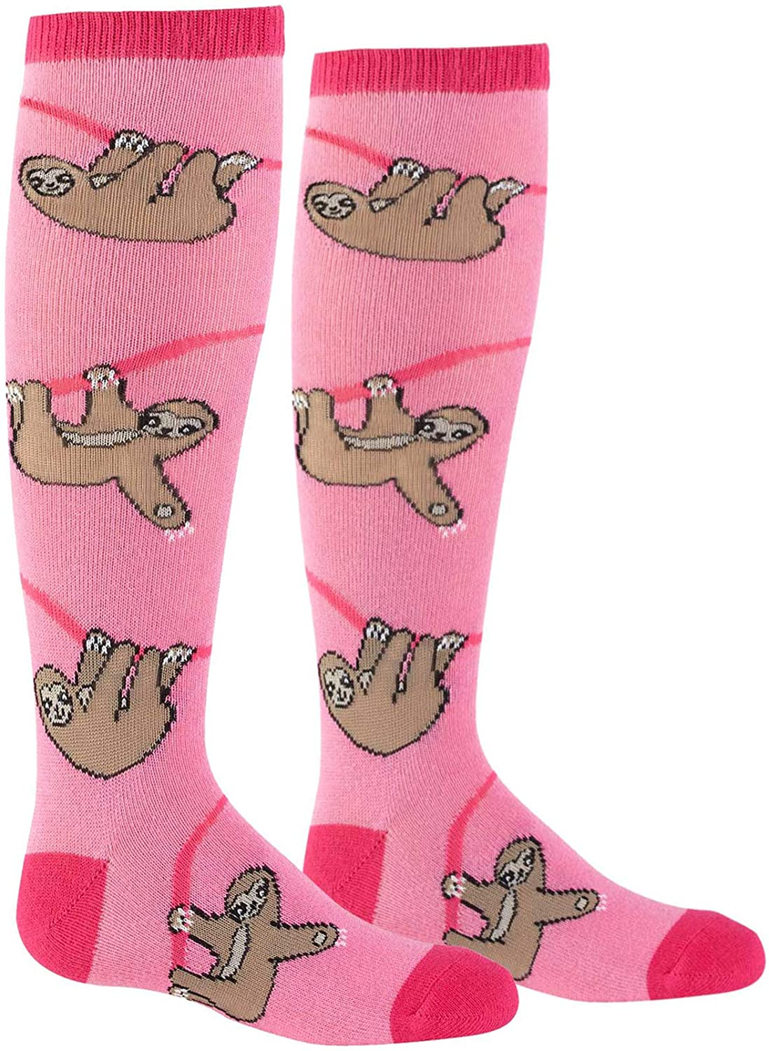 Sock It To Me Youth Pink Sloth Knee High Socks