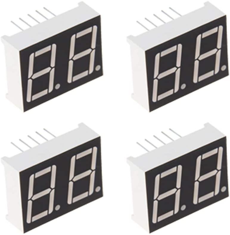 Othmro 5621AH Common Cathode 2V 0.56 inch Black 10 pin LED Display Digital Tube 4 pcs