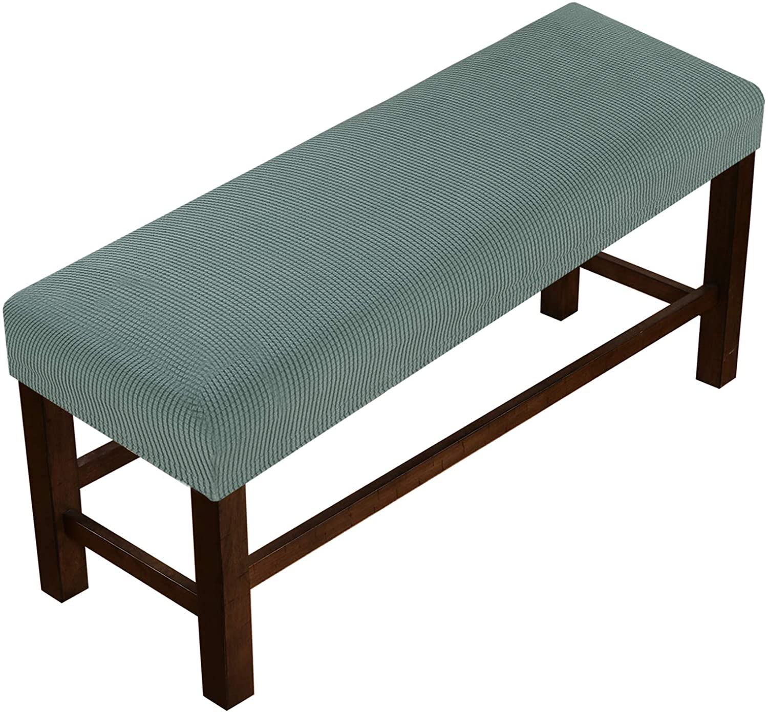 Bench Covers High Stretch Bench Slipcover Rectangle for Dining Room Bench Cushion Covers Indoor Bench Cushion Slipcovers Thicker Jacquard Non Slip with Security Straps (Medium - Sage)