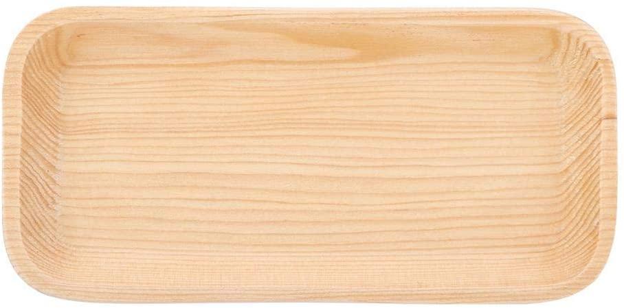 Sushi Plates Wooden Rectangle Sushi Serving Tray Plate Japanese Style Tableware(16.581.8CM)