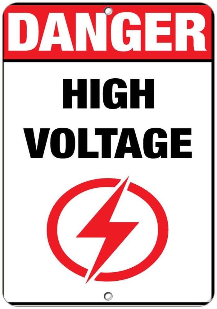 Danger High Voltage Hazard Sign Hazard Labels LABEL DECAL STICKER Sticks to Any Surface 9x12 In