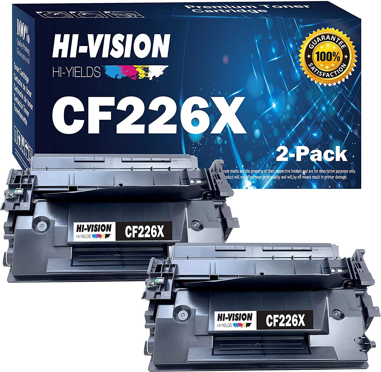 HI-VISION HI-YIELDS Compatible Toner Cartridge Replacement for HP CF226X ( Black , 2-Pack )
