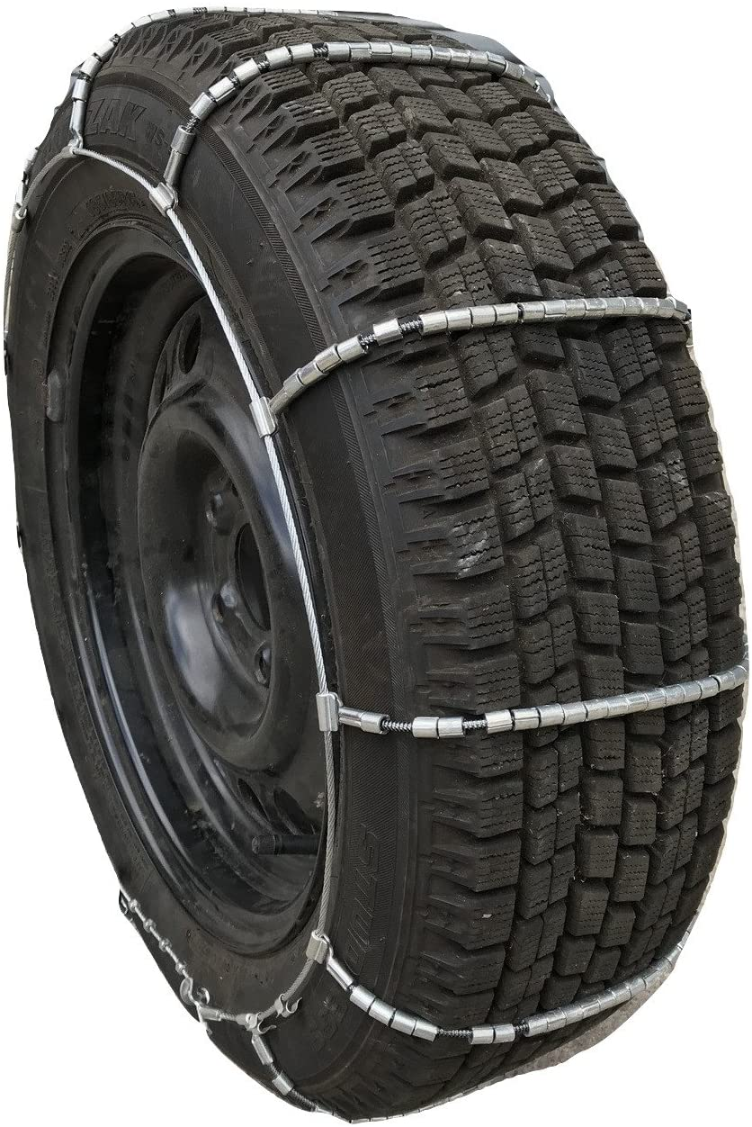 TireChain.com P185/80R13 Cable Tire Chains w/Duffle and Rubber Tensioners